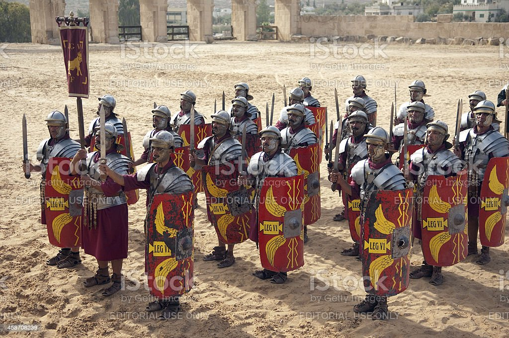Legion in formation - Jerash, Jordan stock photo