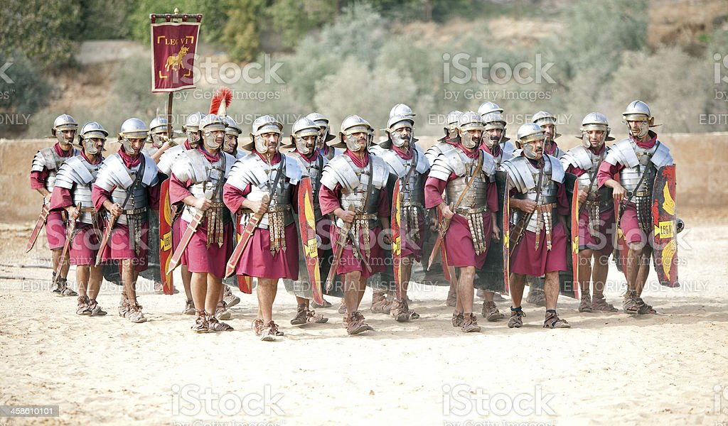 Legion marching - Jerash, Jordan stock photo