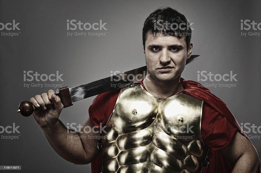 Legionary soldier stock photo
