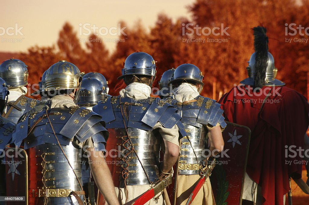 Legionary soldiers stock photo
