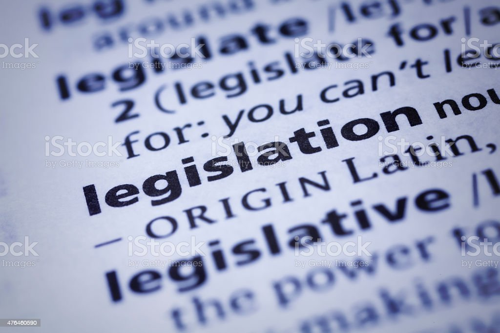 Legislation: Dictionary Close-up stock photo