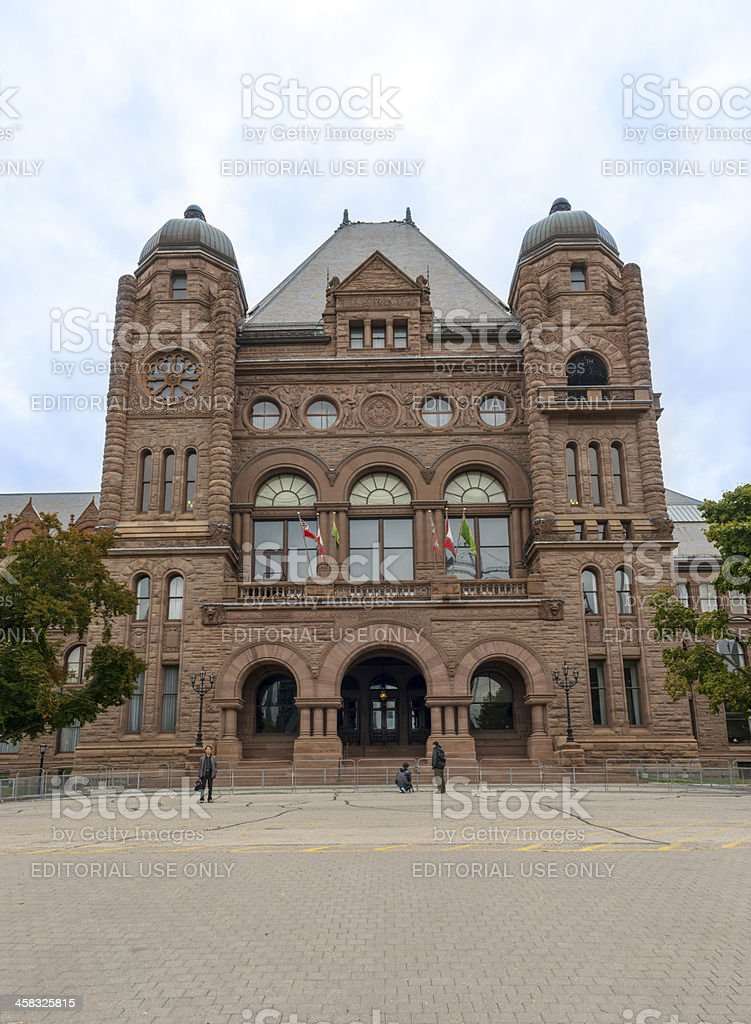Legislative Assembly of Ontario building in Queens Park Toronto royalty-free stock photo