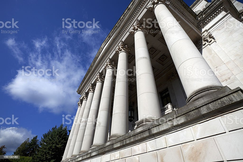 Legislative Building with columns royalty-free stock photo
