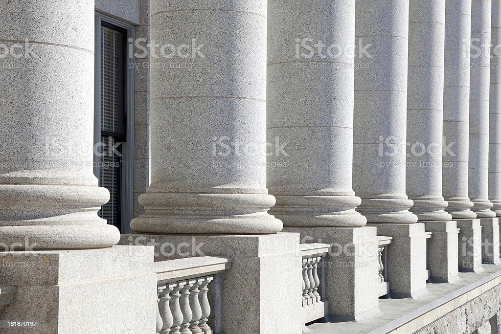 Legislative Building with columns stock photo
