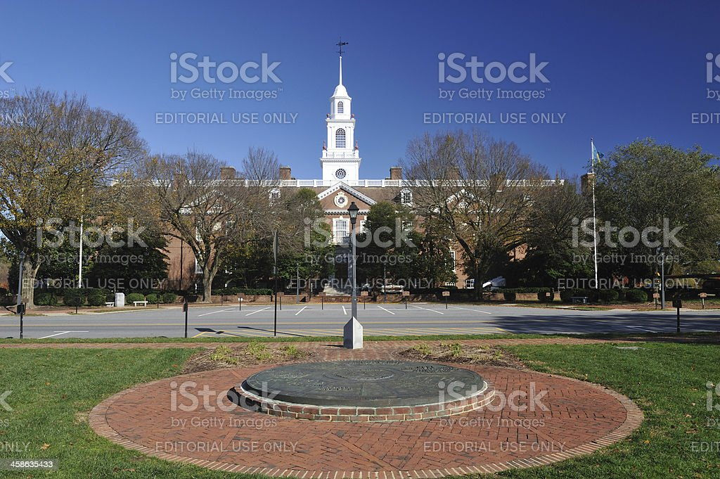 Legislative Hall of Delaware stock photo