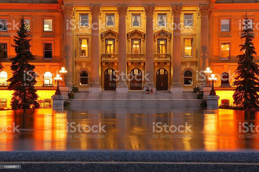 legislature at night royalty-free stock photo