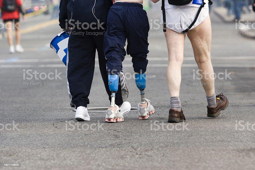 Legless runner stock photo