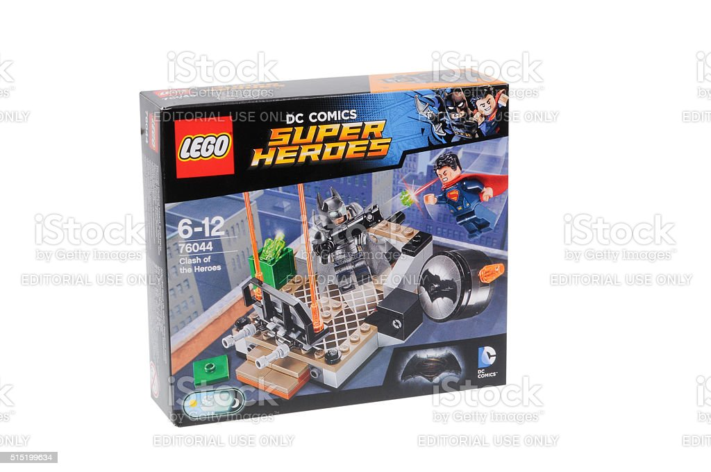 Lego 76044 Clash of the Heroes Kit stock photo