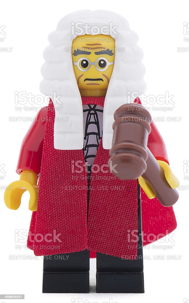 Lego British Judge stock photo