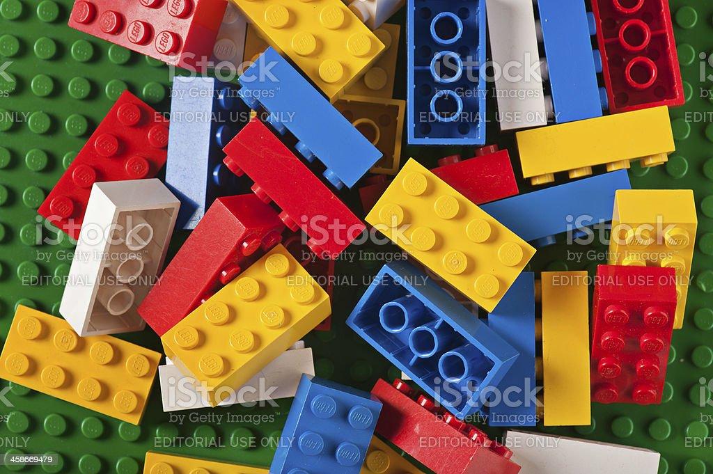 Lego Building Blocks Bricks royalty-free stock photo