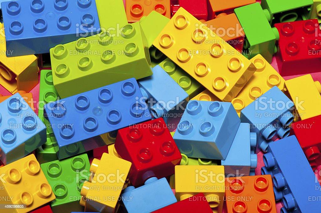 Lego Building Bricks and Blocks royalty-free stock photo