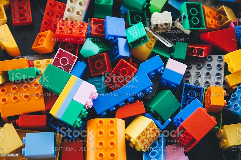 Lego Building Bricks and Blocks stock photo