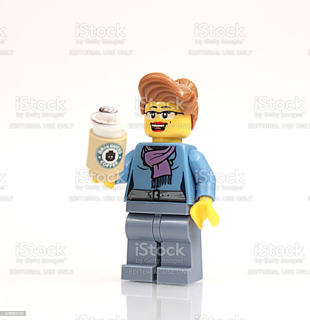 Lego Businesswoman stock photo