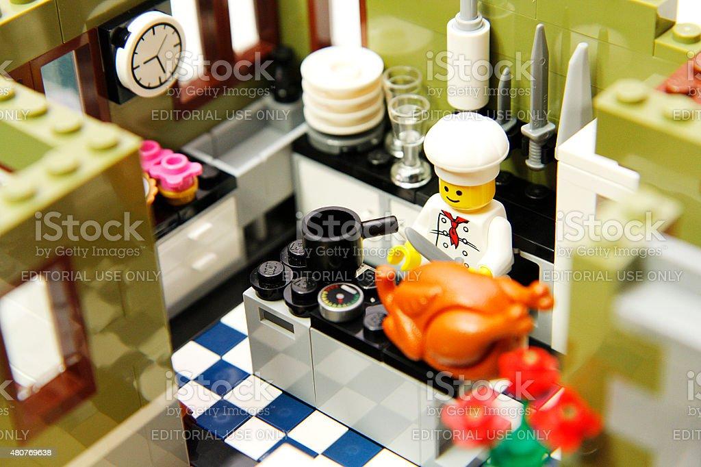 lego chef stock photo