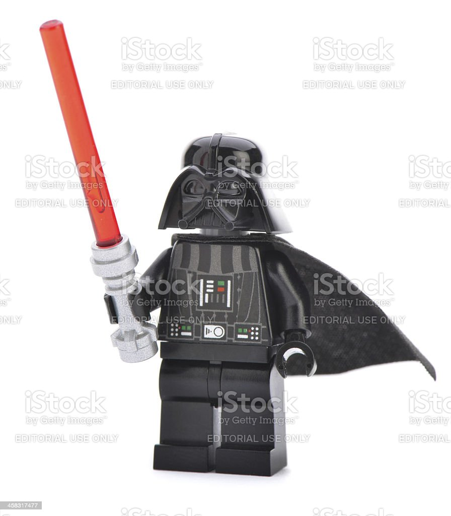 Lego Darth Vader with Sword stock photo