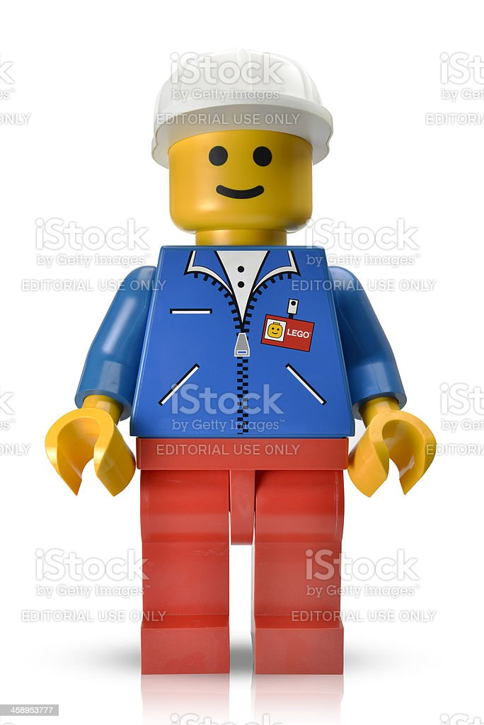 Lego display figure stock photo