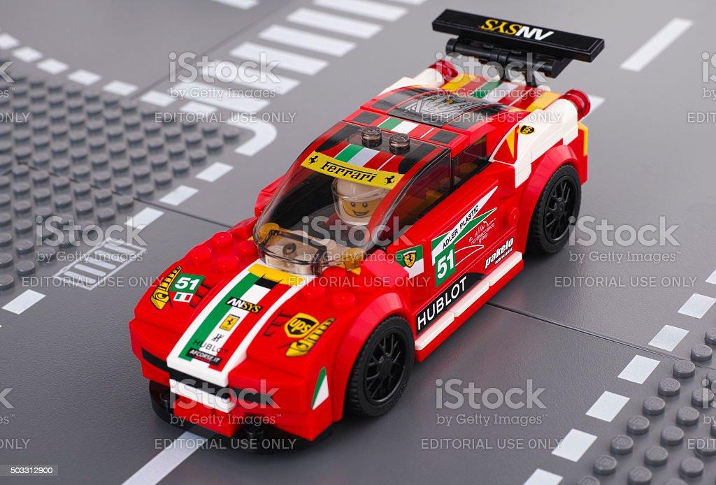 Lego Ferrari 458 Italia GT2 stock photo