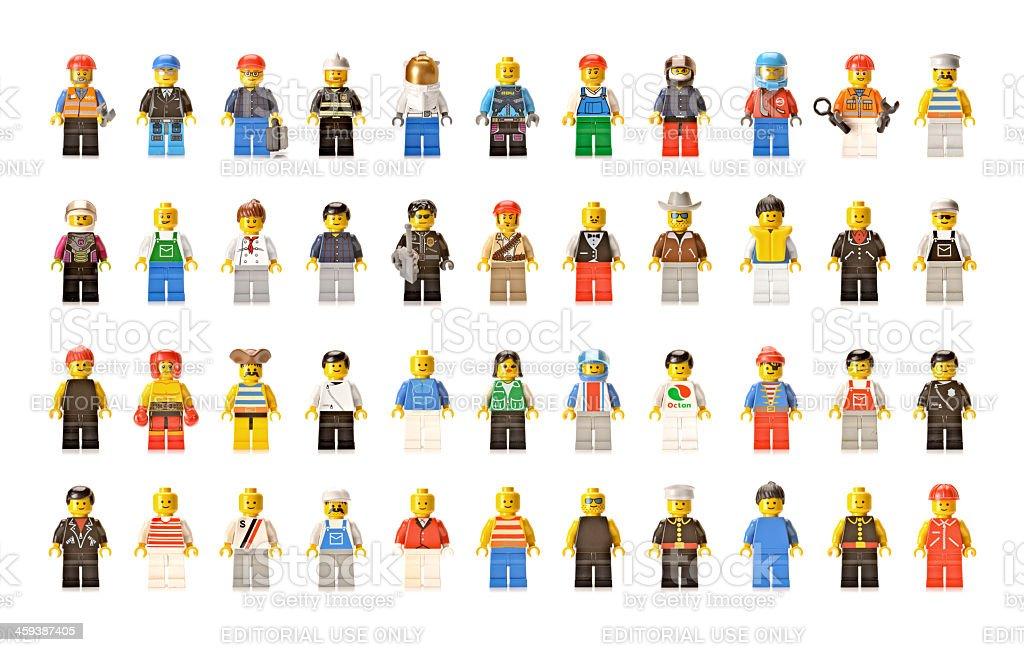 Lego figures men and women stock photo