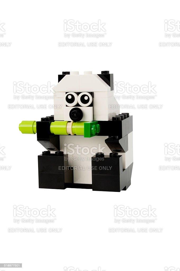 Lego Giant Panda stock photo