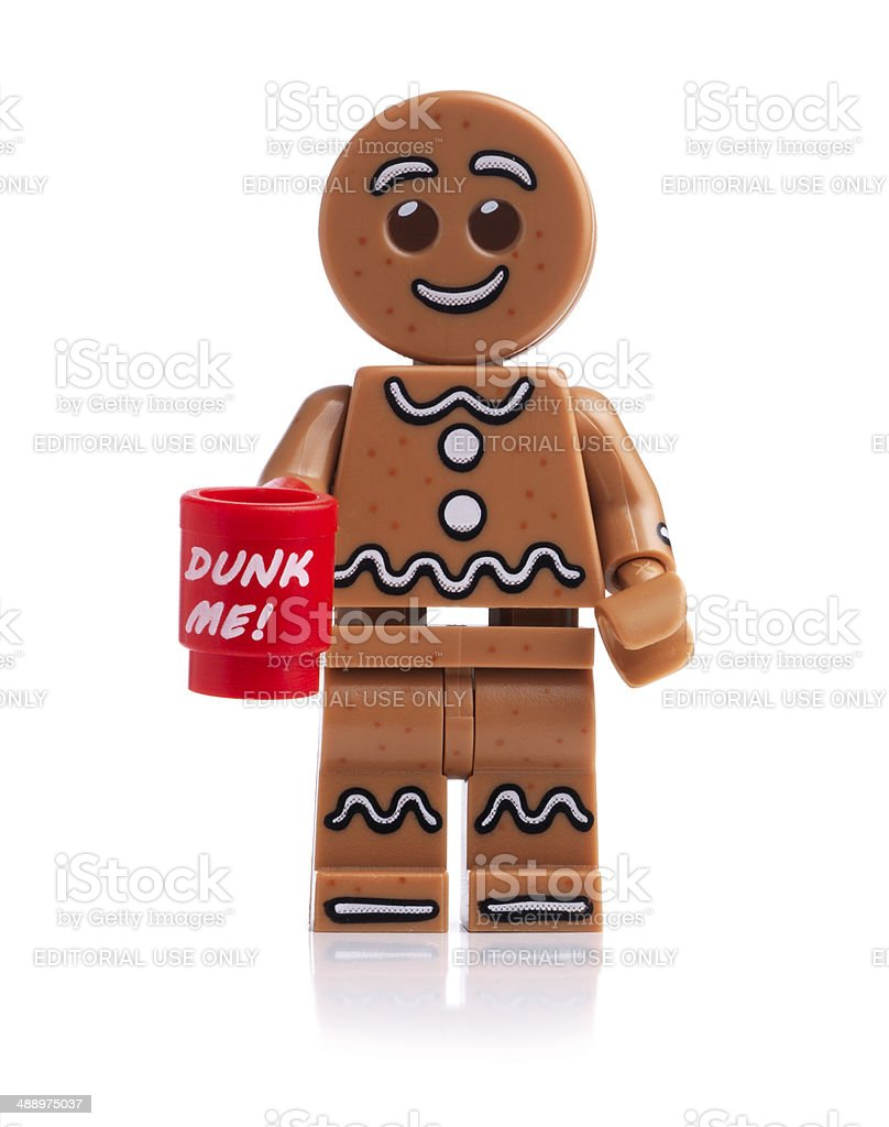 Lego Gingerbread Man royalty-free stock photo