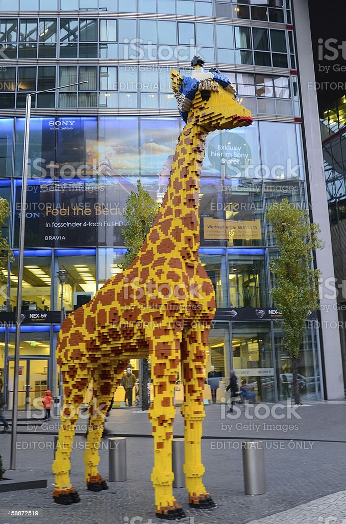 Lego Giraffe in Berlin stock photo