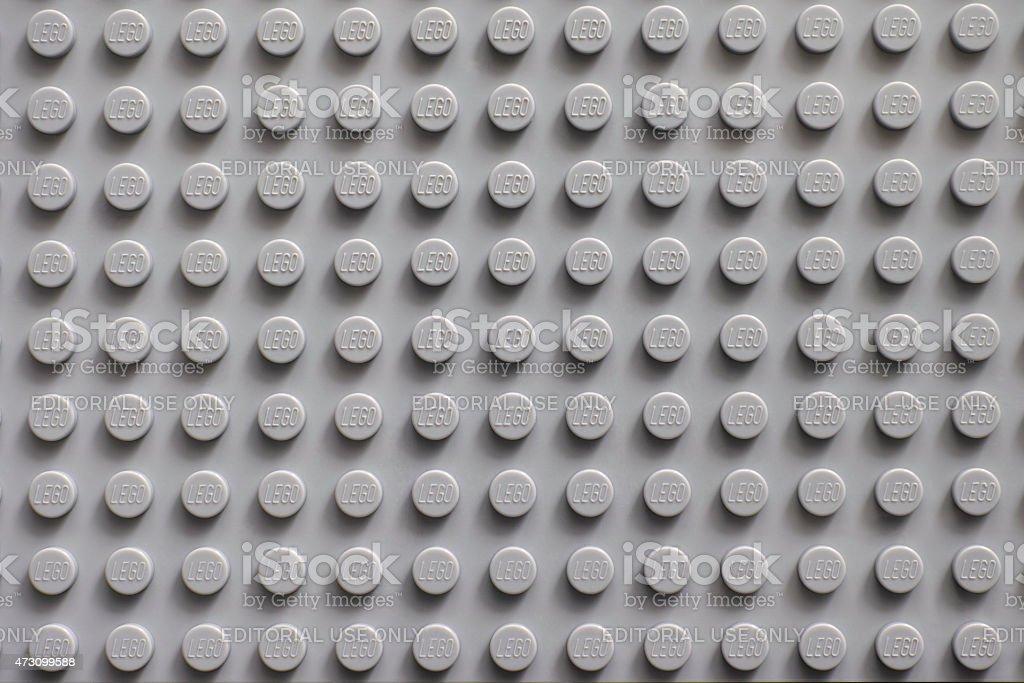 Lego gray baseplate stock photo