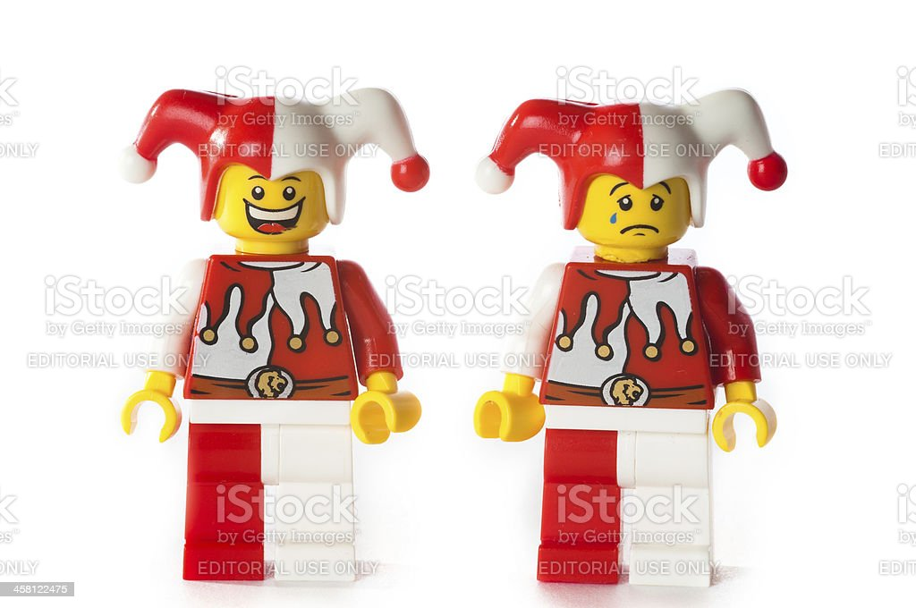 Lego Jester figure royalty-free stock photo