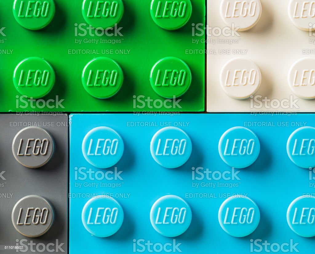 Lego macro stock photo