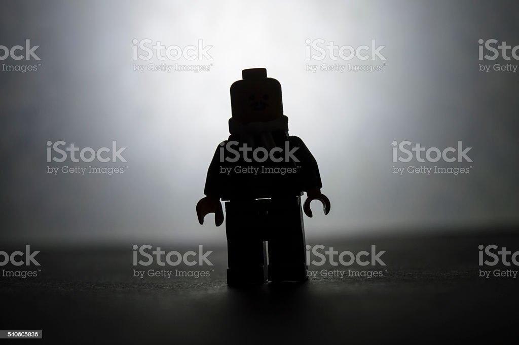 Lego Man Silhouette stock photo