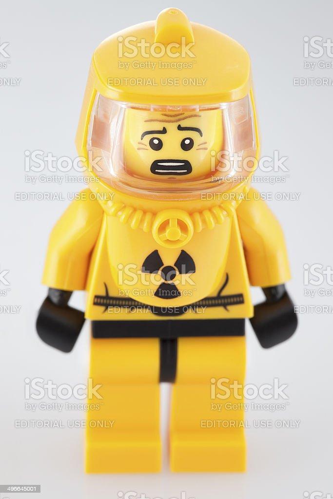 Lego Minifigure: Hazmat Officer stock photo