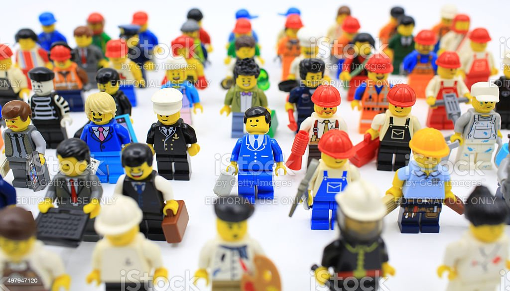 lego minifigure stock photo