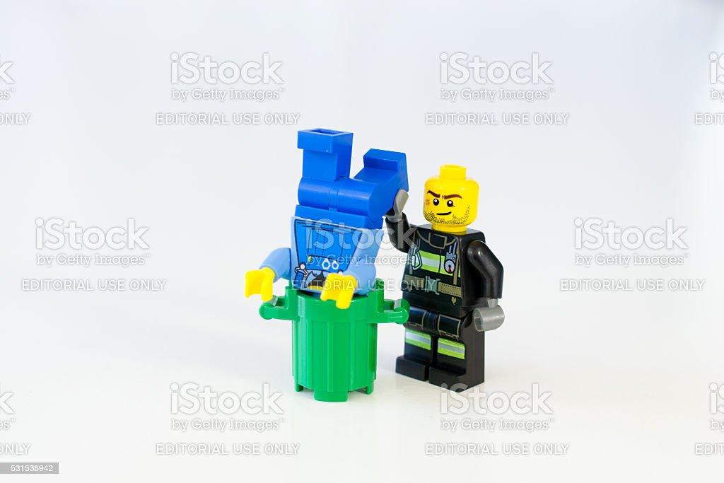 Lego Minifigure Toy stock photo