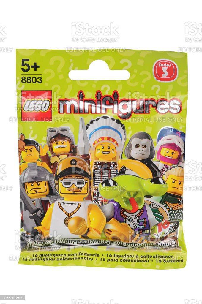 Lego Minifigures Series 3 unopened packet stock photo