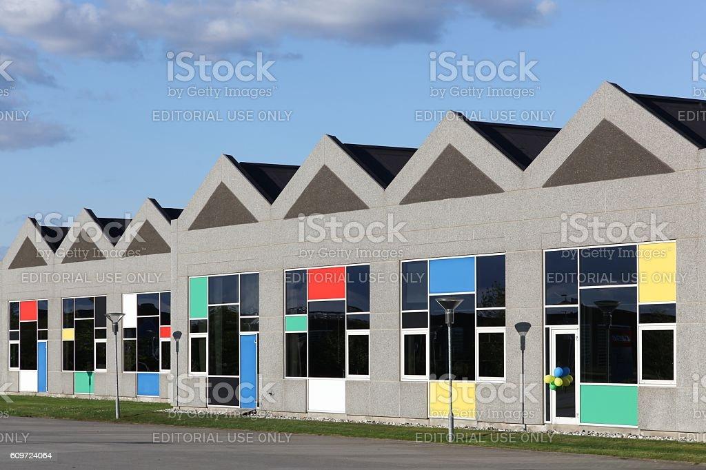 Lego office building in Billund, Denmark stock photo