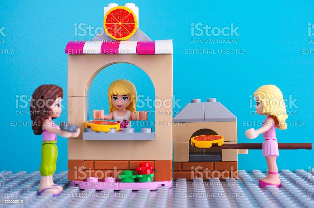 Lego pizzeria stock photo