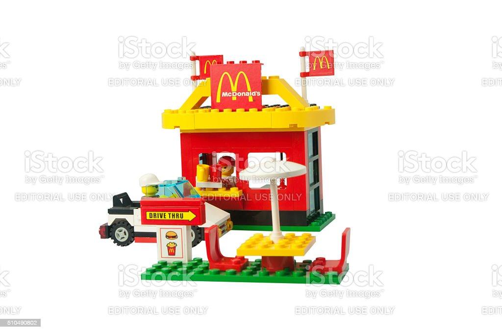 Lego Set 3438 McDonald's Restaurant stock photo