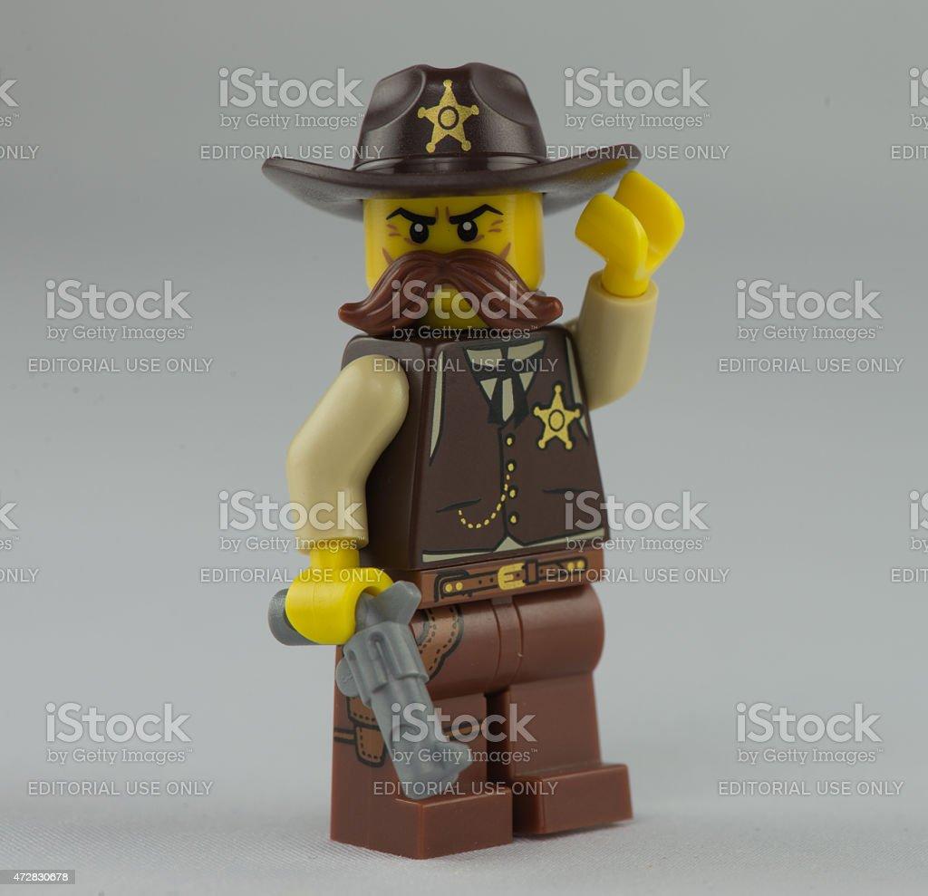 Lego Sheriff stock photo