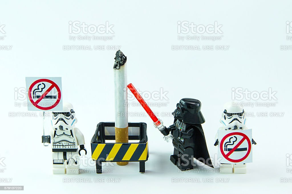 Lego star wars No Smoking Day. stock photo