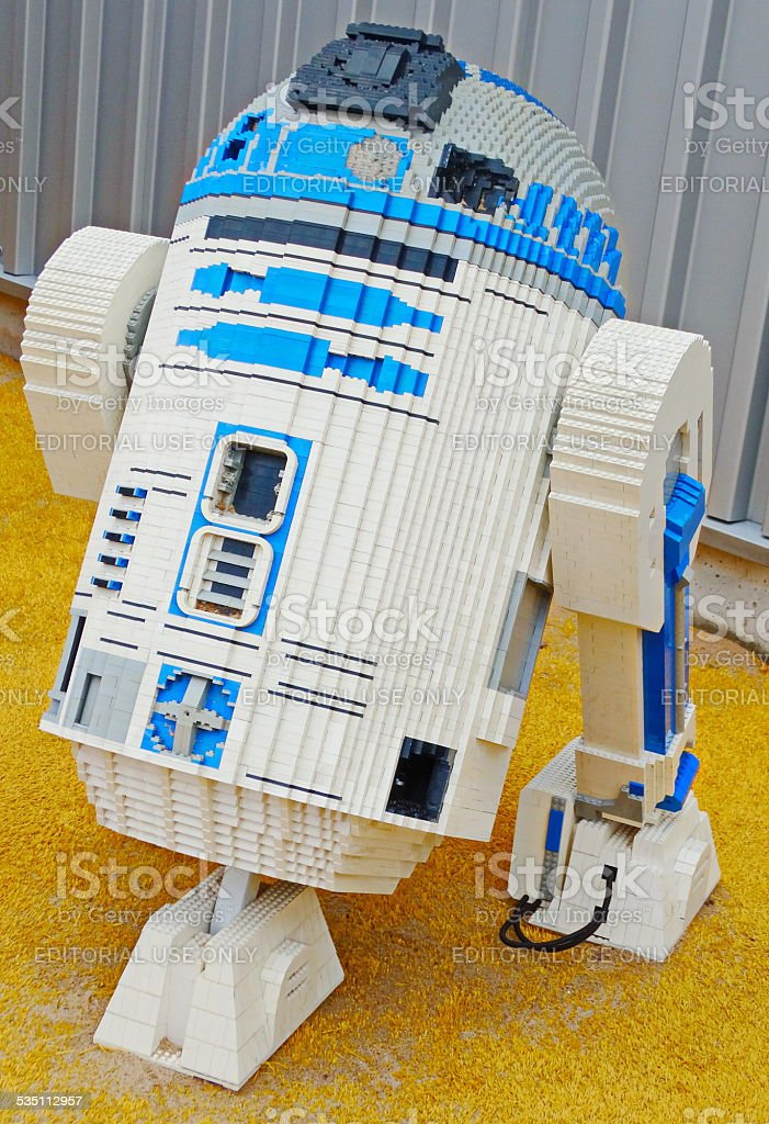 Lego Star Wars r2d2 stock photo