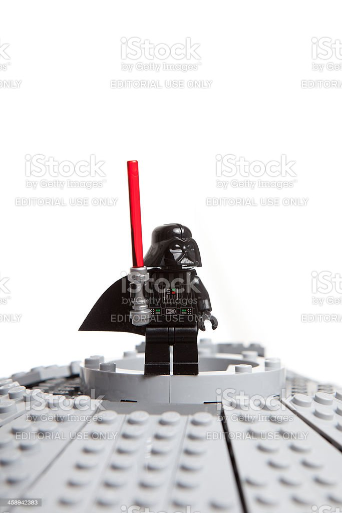Lego Star Wars toy character: Darth Vader stock photo