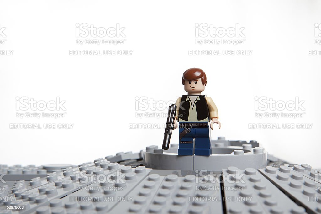 Lego Star Wars toy character: Han Solo stock photo