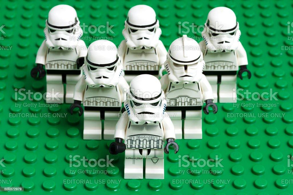 Lego Stormtrooper stock photo