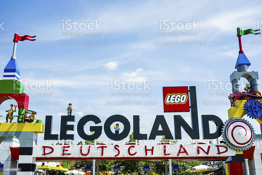 Legoland Deutschland entrance sign stock photo