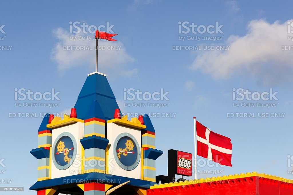 Legoland hotel in billund, Denmark stock photo