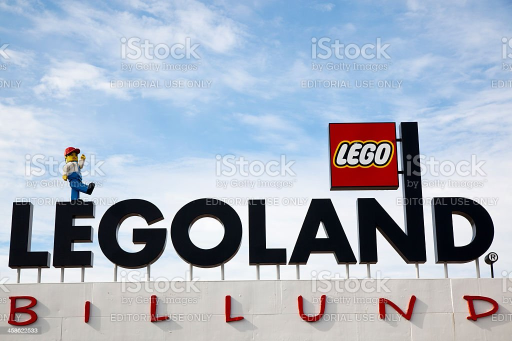 Legoland Sign stock photo