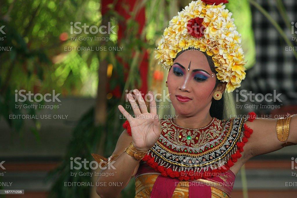 Legong Dancer, Bali stock photo