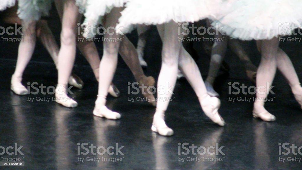 Legs Dancing Ballet stock photo