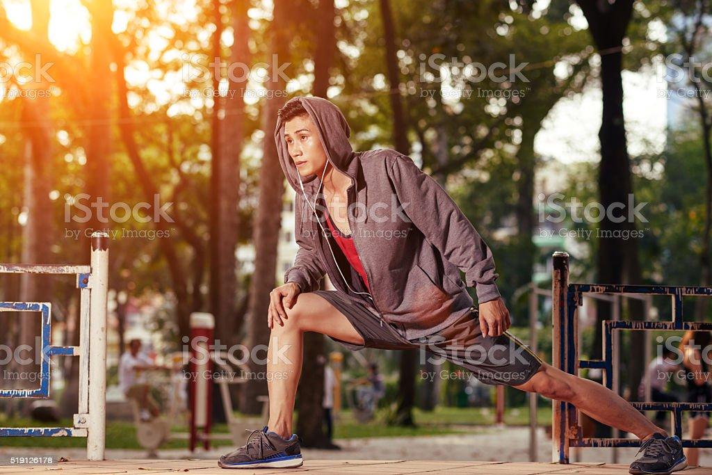 Legs exercise stock photo