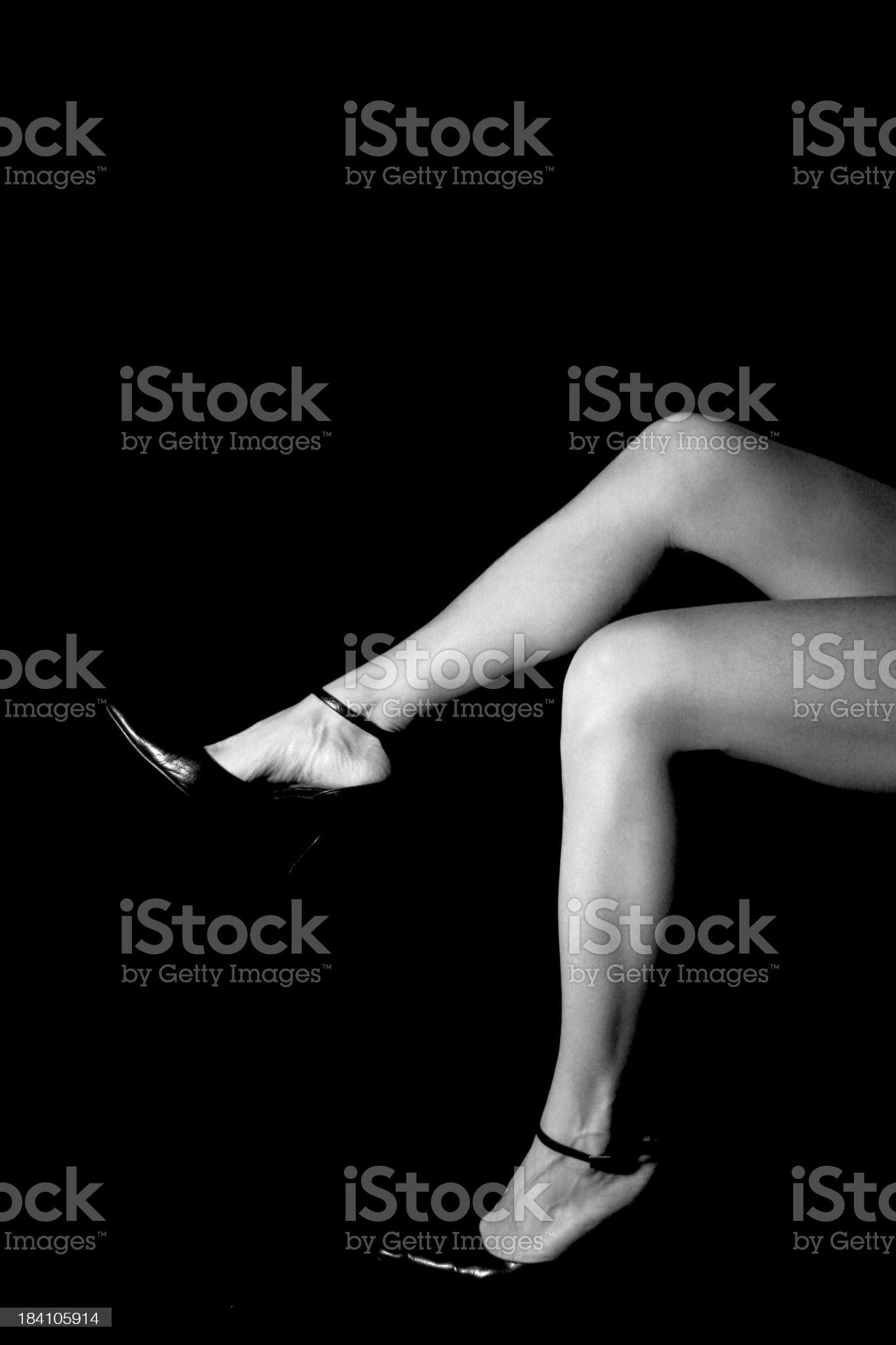 Legs in black royalty-free stock photo
