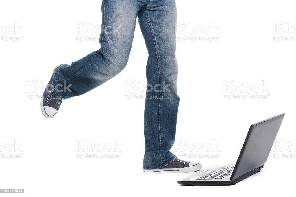 legs in jeans stock photo